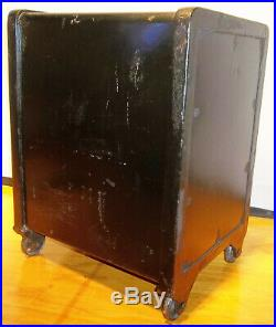 Small 17 1/2 Antique Meilink Cast Iron Floor Safe withCombination VERY NICE