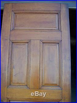 Solid Oak Int. Door 5 Raised panels very nice door (D 8)