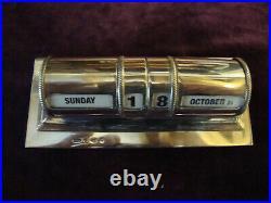 Super Asprey solid silver desk calendar in very nice antique condition