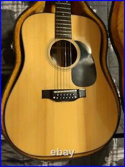 Takamine F-385 12 String Acoustic Guitar Very Nice Vintage 1976 WithHC Japan Made