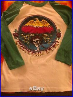 True vtg 1970s 80s Original Grateful Dead 3/4 sleeve Shirt very nice! Free ship
