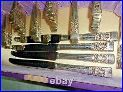 VERY NICE Oneida COMMUNITY CORONATION SILVER PLATE FLATWARE SILVERWARE for 12