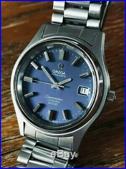 VERY NICE VINTAGE 38mm OMEGA SEAMASTER COSMIC 2000 AUTOMATIC BLUE DIAL