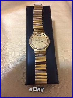 VERY NICE VINTAGE SEIKO RARE 7F39-6000 MOONPHASE WATCH QUARTZ, DATE, New Battery