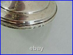 VERY NICE VINTAGE STERLING SILVER 3 LIGHTS SMALL CANDELABRA CANDLESTICK American