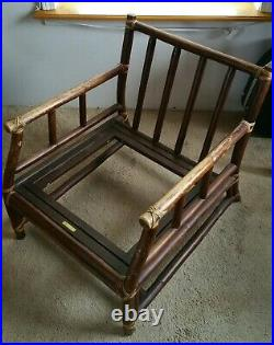 VERY Nice McGUIRE Furniture 1960 Mid CENTURY Rattan BAMBOO Arm CHAIR