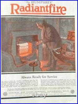 VINTAGE RADIANTFIRE No. 501 NATURAL GAS HEATER VERY NICE