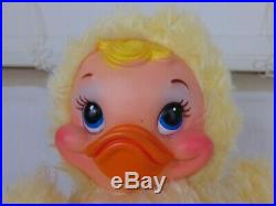 VINTAGE RUSHTON PLUSH YELLOW DUCK RUBBER FACE 9 TALL VERY NICE With TAGS TWEEN