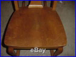 VINTAGE WOOD BIRDS EYE MAPLE CHILDS ROCKING CHAIR 40s 50s VERY NICE