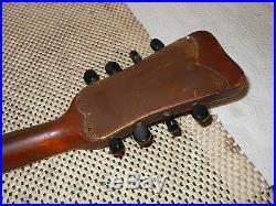 Vega Vintage Bowl Back Mandolin Very nice action but needs repair in back bowl