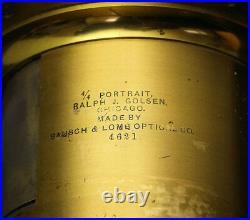 Very NICE! Bausch & Lomb 380mm F4.8 Petzval Antique Brass Lens wet plate 10x12