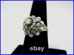 Very Nice 18k Yellow Gold Vintage Opal Ring