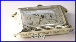 Very Nice 1927 Art Deco Longines 15J 14K Gold Filled Watch with Radium Dial