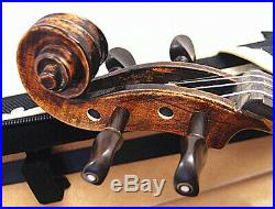 Very Nice 4/4 Antique Varnished with Higher Flamed Violin+Bow+Case #AQS-09