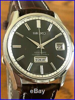Very Nice And Rare Vintage 1965 Seiko Grey Seikomatic 26j. Automatic 6206-8040