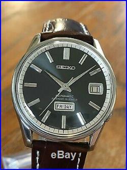Very Nice And Rare Vintage 1966 Seiko Black Seikomatic 6206-8040 Automatic 26j