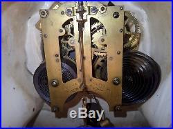 Very Nice Antique Ansonia Majolica China Case Clock Running 13 1/2 Tall