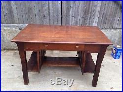 Very Nice Antique Arts & Crafts Mission oak Stickley Desk And Bookshelves
