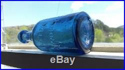 Very Nice Antique Iron Pontil Lancaster Glass Works N. Y. Soda Bottle In Blue