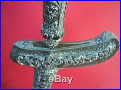 Very Nice Antique Javanese Keris Sterling Silver Sword Knife Jw 1