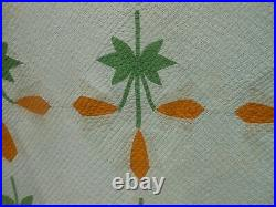 Very Nice Antique Mid 19th Cen. Pa. Tulip Applique Quilt, Hand Stitched