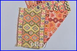 Very Nice Antique Swedish Tapestry Textile Weaving Skane Rug Textile Handmade