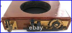 Very Nice / Antique Wooden & Brass 6 Speed Curtain Shutter. Unknown Maker. #1