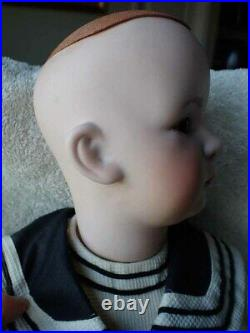 Very Nice Bisque Head Closed Mouth Reproduction Antique Doll 23