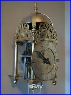 Very Nice Brass Verge Pendulum Lantern Clock Unknown Date Gwo