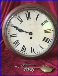 Very Nice English 12in Antique Fusee Dial Clock