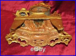 Very Nice French Gilt Metal 8 Day Mantle Clock With Figure