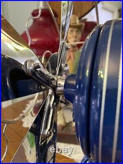 Very Nice Fully Restored DC 12 Western Electric Brass Blade Cage Lollipop Fan