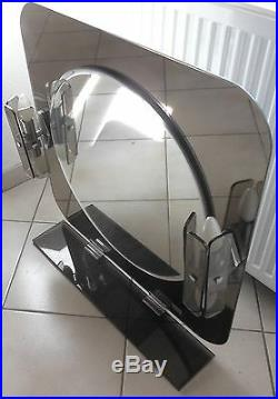 Very Nice Large Mirror Fontana Arte with Appliques Mirror with Sconces