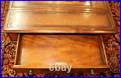 Very Nice Maitland Smith Barley Twist Leather Top Game Table