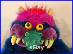 Very Nice My Pet Monster, Vintage Original 1986 AmToy, With Shackles/ handcuffs