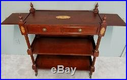 Very Nice Rolling Bar Serving Cart by THE BOMBAY COMPANY Buffet Server Cherry
