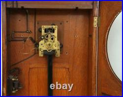 Very Nice Self Winding Clock Co. #9 Wall Regulator in Oak