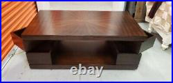 Very Nice Solid Wood Coffee Table with very unique pull out storage