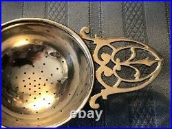 Very Nice Sterling Handled Tea Strainer 6 X 2 3/4