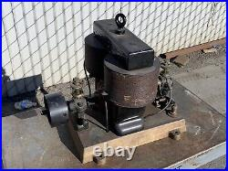 Very Nice Unmarked Early 1890s Bipolar Motor On Solid Cast Brass Base