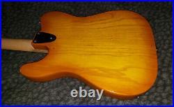 Very Nice Vintage 90s G&L Honeyburst ASAT Special MFD Ash Rosewood Case