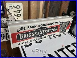 Very Nice Vintage Briggs & Stratton Dealer light up SIGN ADVERTISING MOTOR