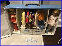 Very Nice Vintage Mattel Lot Blonde Skipper/Platinum Blonde Skooter WithCase Etc