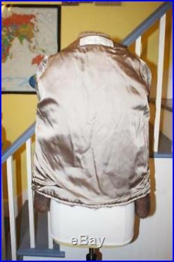 Very Nice Vintage Whiskey MINK Fur Coat Zip Off Bottom Jacket Women's M