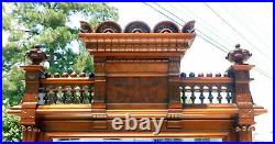 Very Nice Walnut Victorian Marble Top Dresser withLarge Mirror