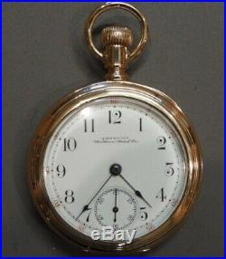 Very Nice Waltham Model 1888 Riverside Guilt Damasceened Running