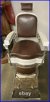 Very nice Antique/Vintage High End Koken Barber Chair Working Hydraulic Lift