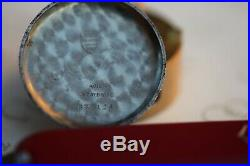 Very nice Omega Tissot 33.3 cal. Stepped case with rare lugs black Dial + gilt