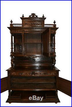 Very nice Quality, French Breton Cabinet, Oak, 1900's