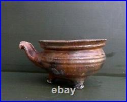 Very nice and rare 16th. 17th. Century Dutch ceramic saucepan